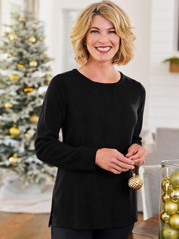 Soft Spun® Acrylic Ribbed Long Sleeve Sweater - Image 1 of 5