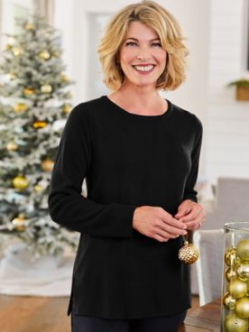 Soft Spun® Acrylic Ribbed Long Sleeve Sweater