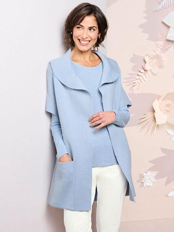 Picadilly Blue Fog Sweater Jacket - Image 1 of 1