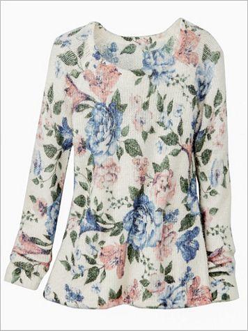 Floral Eyelash Sweater - Image 2 of 2