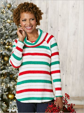 Sparkle Stripe Chenille Sweater - Image 3 of 3