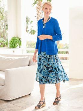 Mystic Sweater & Mystic Mosaic Paisley Mesh Skirt