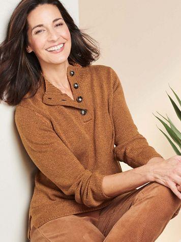 Marled Sweater Long Sleeve Henley - Image 1 of 4