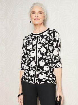 Floral Silhouette Sweater by Brownstone Studio®