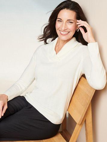Soft Spun® Shawl Collar Long Sleeve Sweater - Image 1 of 5
