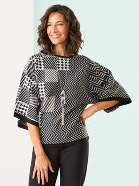 Brownstone Studio® Check It Out Dolman Sweater
