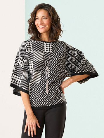 Brownstone Studio® Check It Out Dolman Sweater - Image 2 of 2