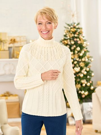 Comfort Cowl Long Sleeve Sweater - Image 1 of 4