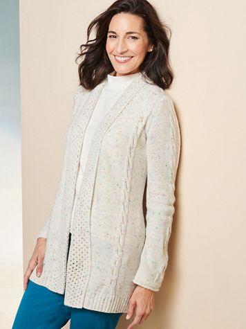 Confetti Long Sleeve Sweater Cardigan - Image 2 of 2