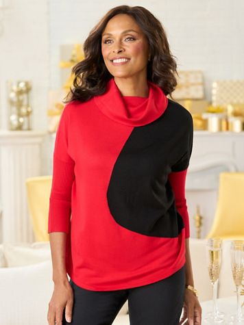 Contrast Mix Long Sleeve Sweater - Image 2 of 2