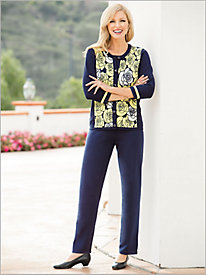 Amalfi Romance Sweater-Knit Pant Suit