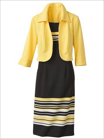 Striped Jacket Dress - Image 3 of 3