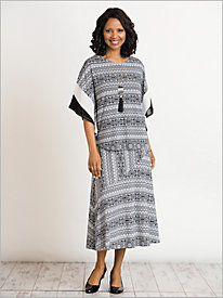 A-Maze-Ing Knit Skirt Set