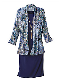 Paisley Jacket Dress