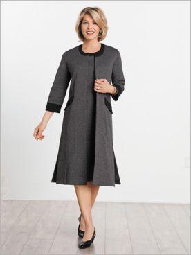 Check Knit Dress Set
