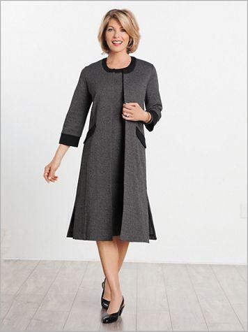 Check Knit Dress Set - Image 3 of 3