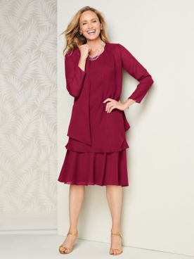 Special Occasion Flirty Georgette Jacket Dress