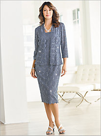 Parisian Lace Jacket Dress by Alex Evenings