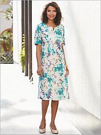 Provence Look-Of-Linen Dress
