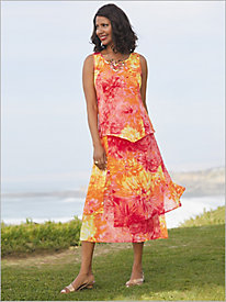 Ombré Floral Dress