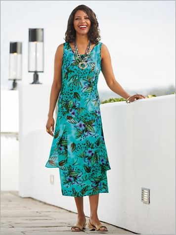 Exotic Blooms Dress - Image 0 of 1