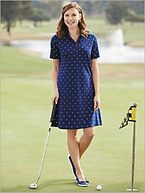 Printed Polo Dress by D&D Lifestyle&#8482 Golf