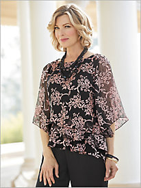 Cherry Blossom Tiered Top by Alex Evenings