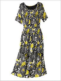 Floral Punch Smocked Dress