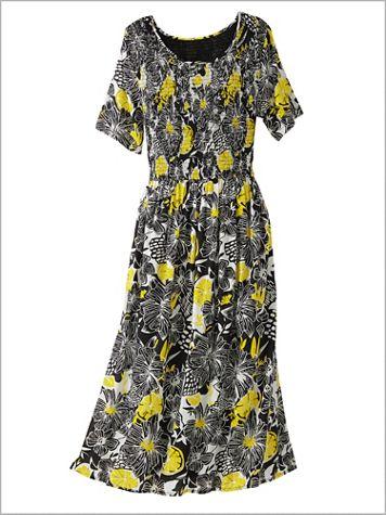 Floral Punch Smocked Dress - Image 2 of 2