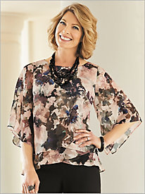 Fantasy Floral Tiered Top by Alex Evenings