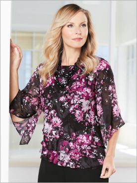 Botanical Bliss Tiered Top by Alex Evenings