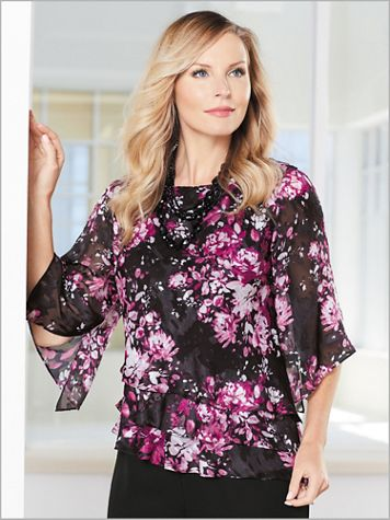 Botanical Bliss Tiered Top by Alex Evenings - Image 2 of 2