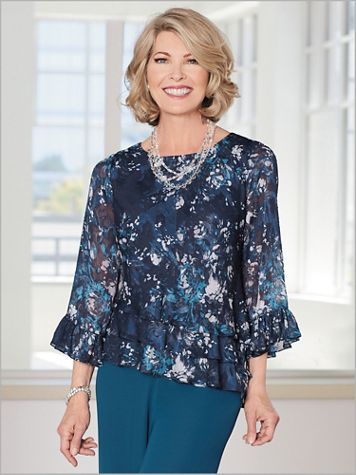 Petal Pop Tiered Top by Alex Evenings - Image 2 of 2