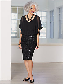 Simply Sequined Dress by Alex Evenings