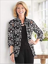 Regal Embroidered Jacket Twin Set by Alex Evenings