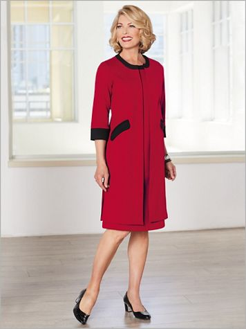 Ponte Knit Dress Set - Image 0 of 2