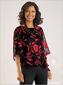 Botanical Bloom Tiered Top by Alex Evenings