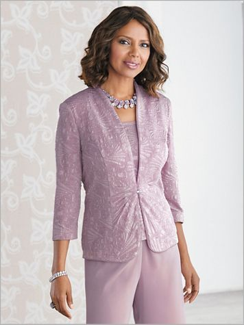 Soft Spring Jacquard Twin Set by Alex Evenings - Image 2 of 2