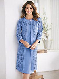 Lovely Linen And Lace Jacket Dress