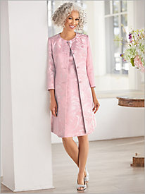 Regal Rose Duster Jacket Dress