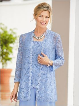 Lovely Lace Duster & Tank by Alex Evenings