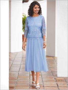 Romantic Lace Dress by Alex Evenings