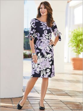 Beautiful Blooms Tie Sleeve Dress