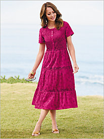 Easy Breezy Embroidered Smocked Dress