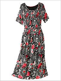 Floral Pop Smocked Dress