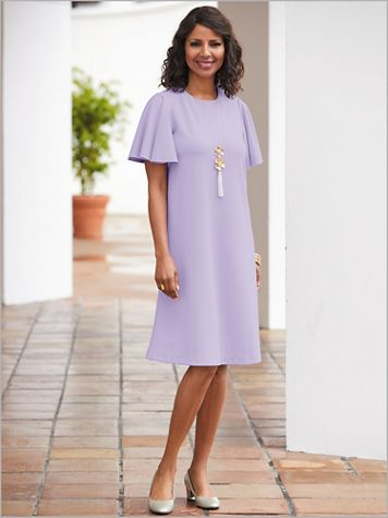 Flutter Sleeve Sheath Dress - Image 0 of 1