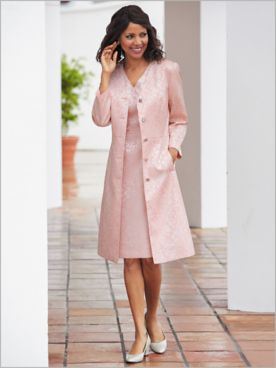 Regal Jacquard Duster Jacket Dress
