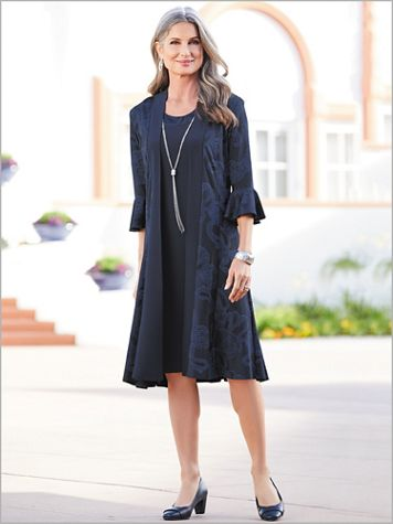 Bell Sleeve Jacket Dress - Image 2 of 2