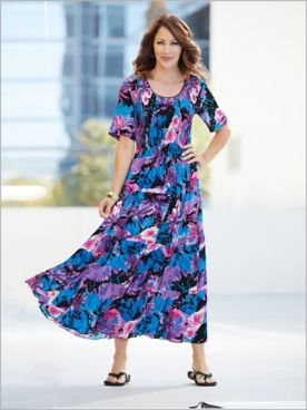 Tropical Floral Smocked Dress