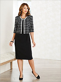 Plaid 'N Pearls Jacket Dress